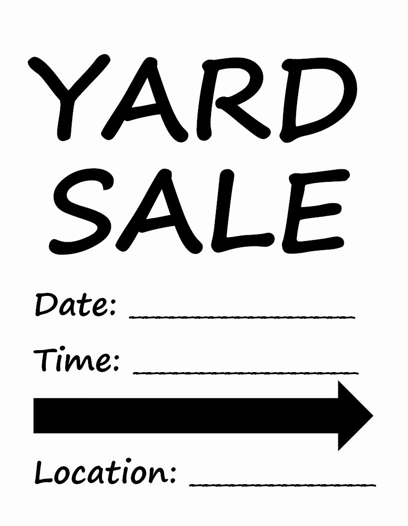 Free Printable Yard Sale Flyers Inspirational Let It Shine Yard Sale Tips to Have the Best Yard Sale