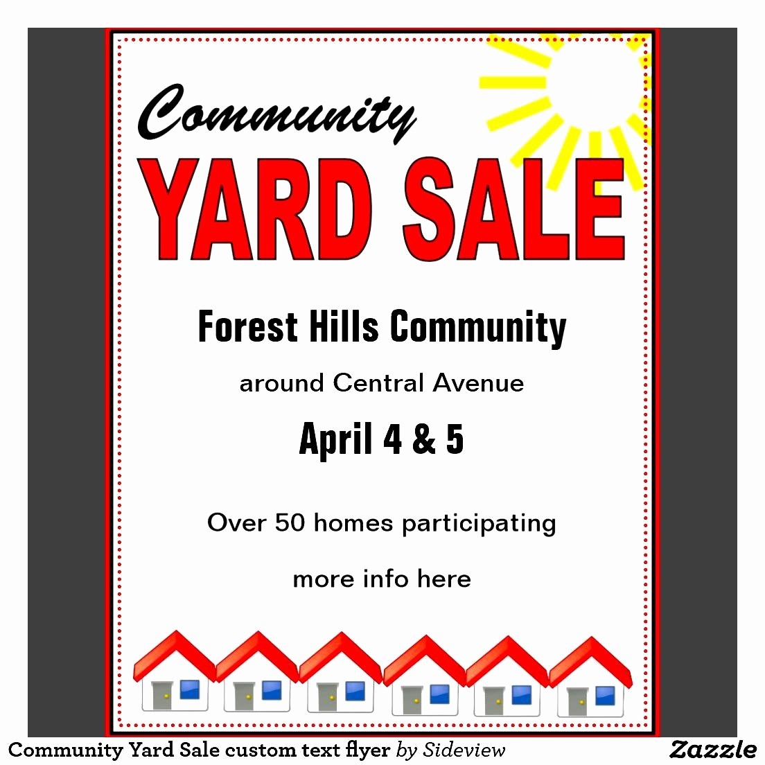 Free Printable Yard Sale Flyers Inspirational Munity Yard Sale Flyer Template Yourweek B31bebeca25e