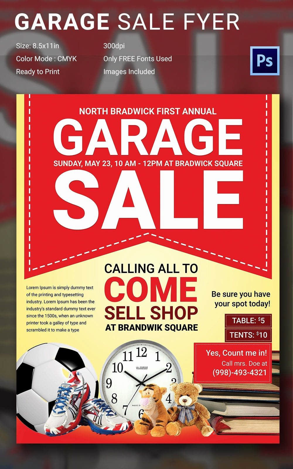Free Printable Yard Sale Flyers Lovely 14 Best Yard Sale Flyer Templates & Psd Designs