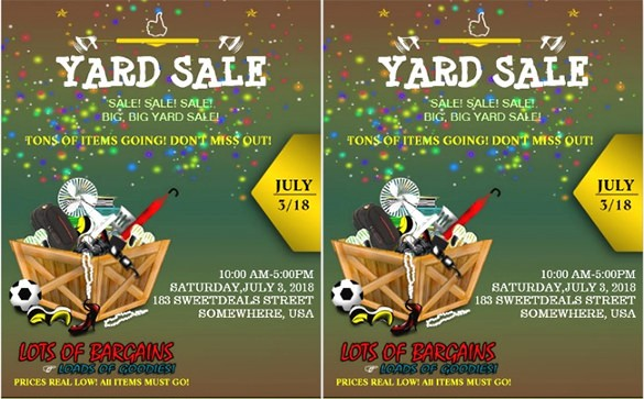 Free Printable Yard Sale Flyers Lovely 77 Sales Flyer Template Psd Docs Pages Ai
