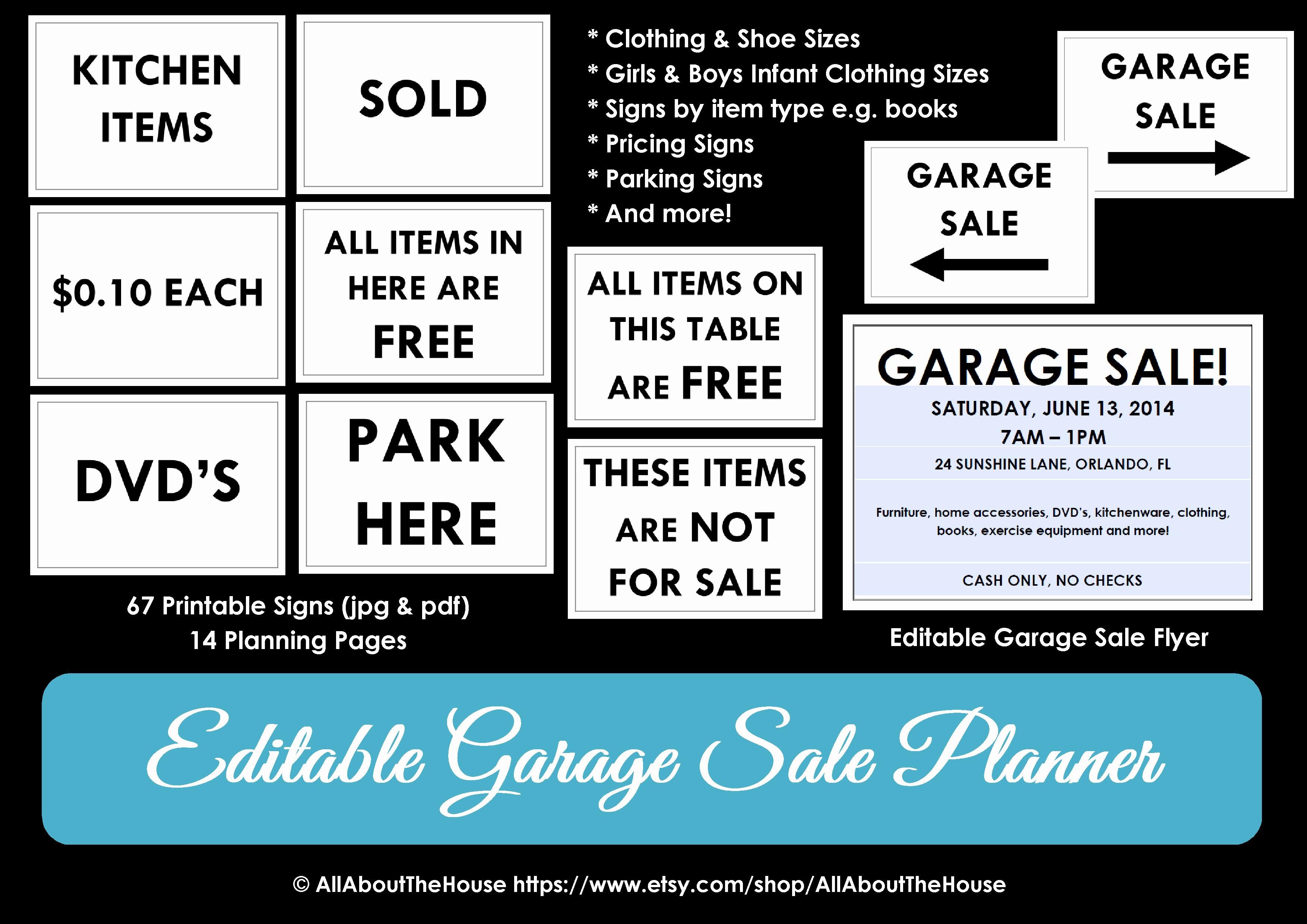 Free Printable Yard Sale Flyers Luxury Garage Sale Planner