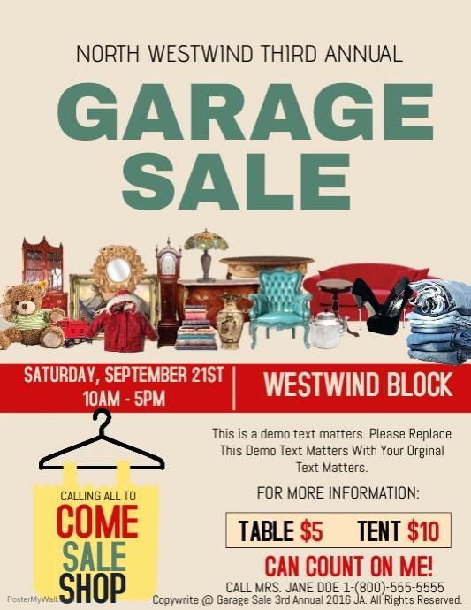 Free Printable Yard Sale Flyers New Garage Sale Template