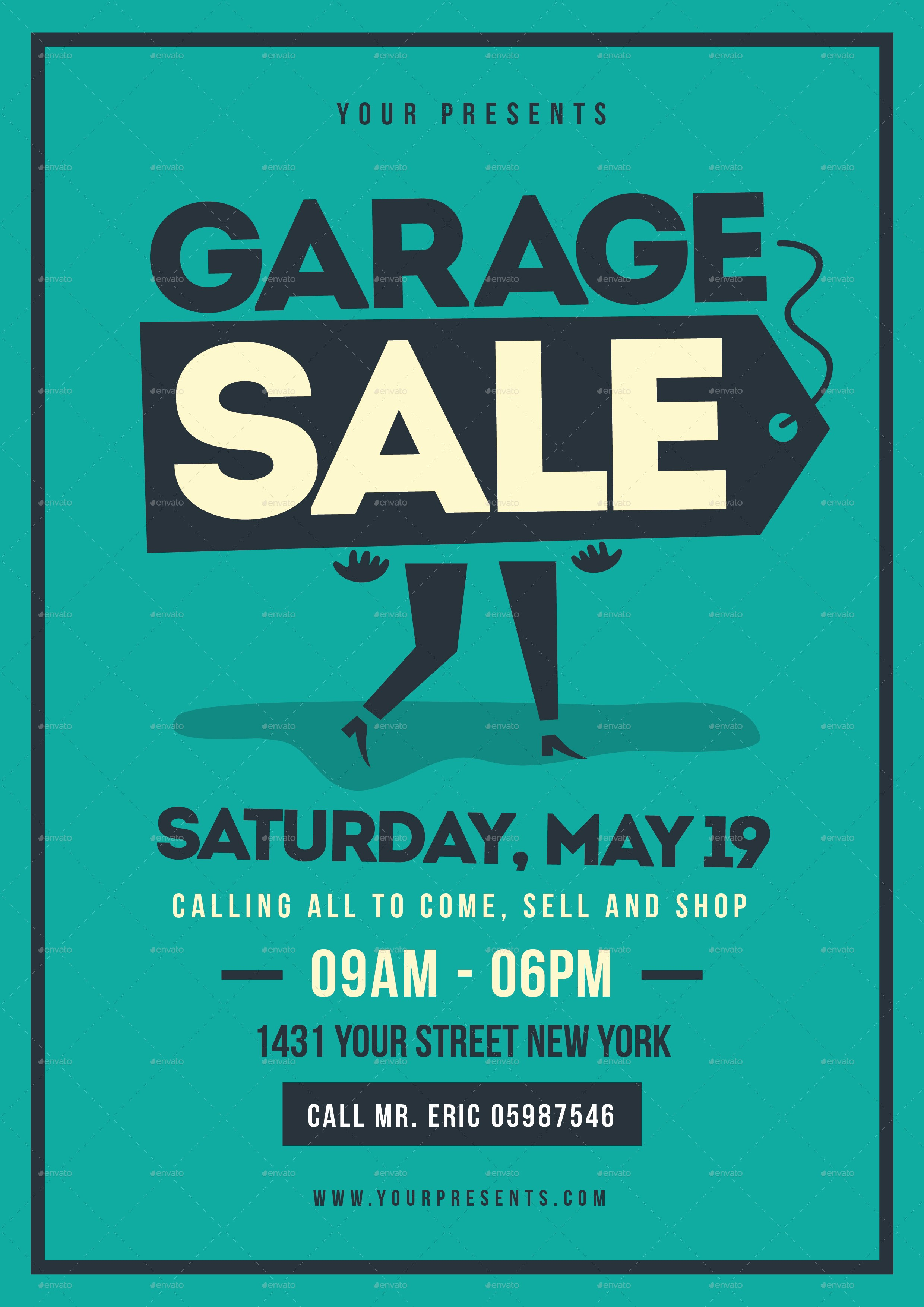 Free Printable Yard Sale Flyers New Retro Garage Sale Flyer by Lilynthesweetpea