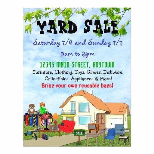 Free Printable Yard Sale Flyers Unique Yard Sale Flyers