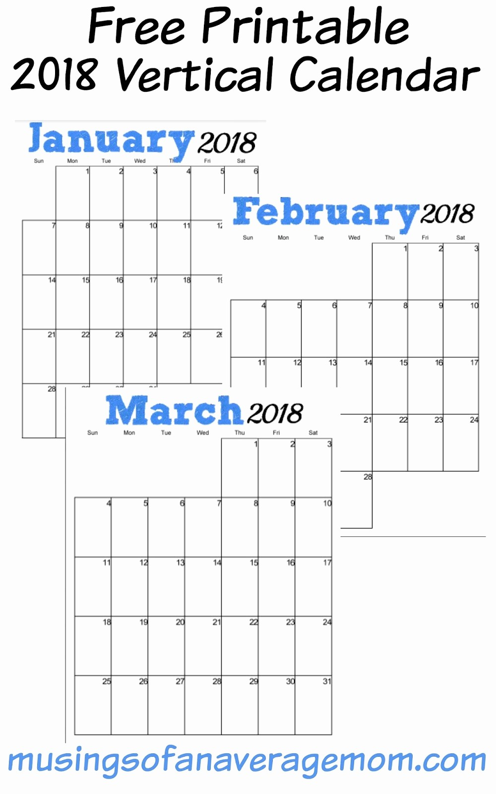 Free Printable Yearly Calendar 2018 Beautiful Musings Of An Average Mom 2018 Calendars From Musings Of