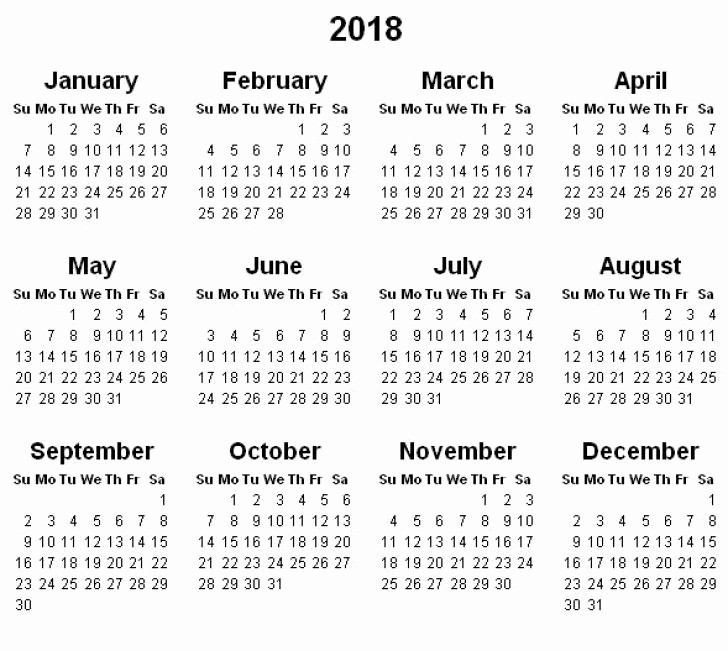 Free Printable Yearly Calendar 2018 Best Of Yearly Calendar 2018