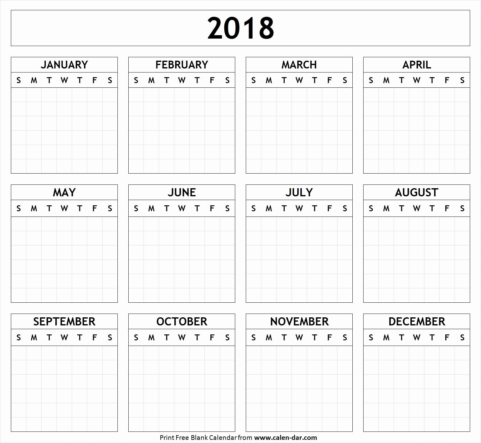 Free Printable Yearly Calendar 2018 Elegant Printable Quarterly Calendar 2018 Printable 360 Degree