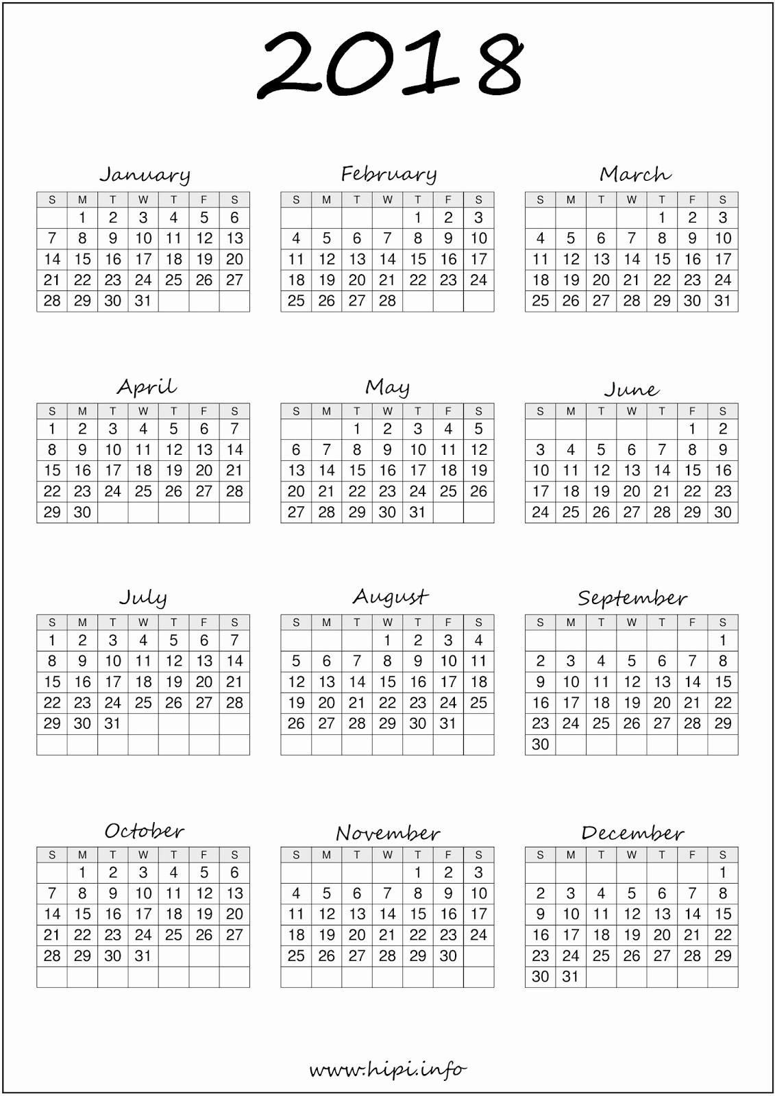 Free Printable Yearly Calendar 2018 Fresh Twitter Headers Covers Wallpapers Calendars