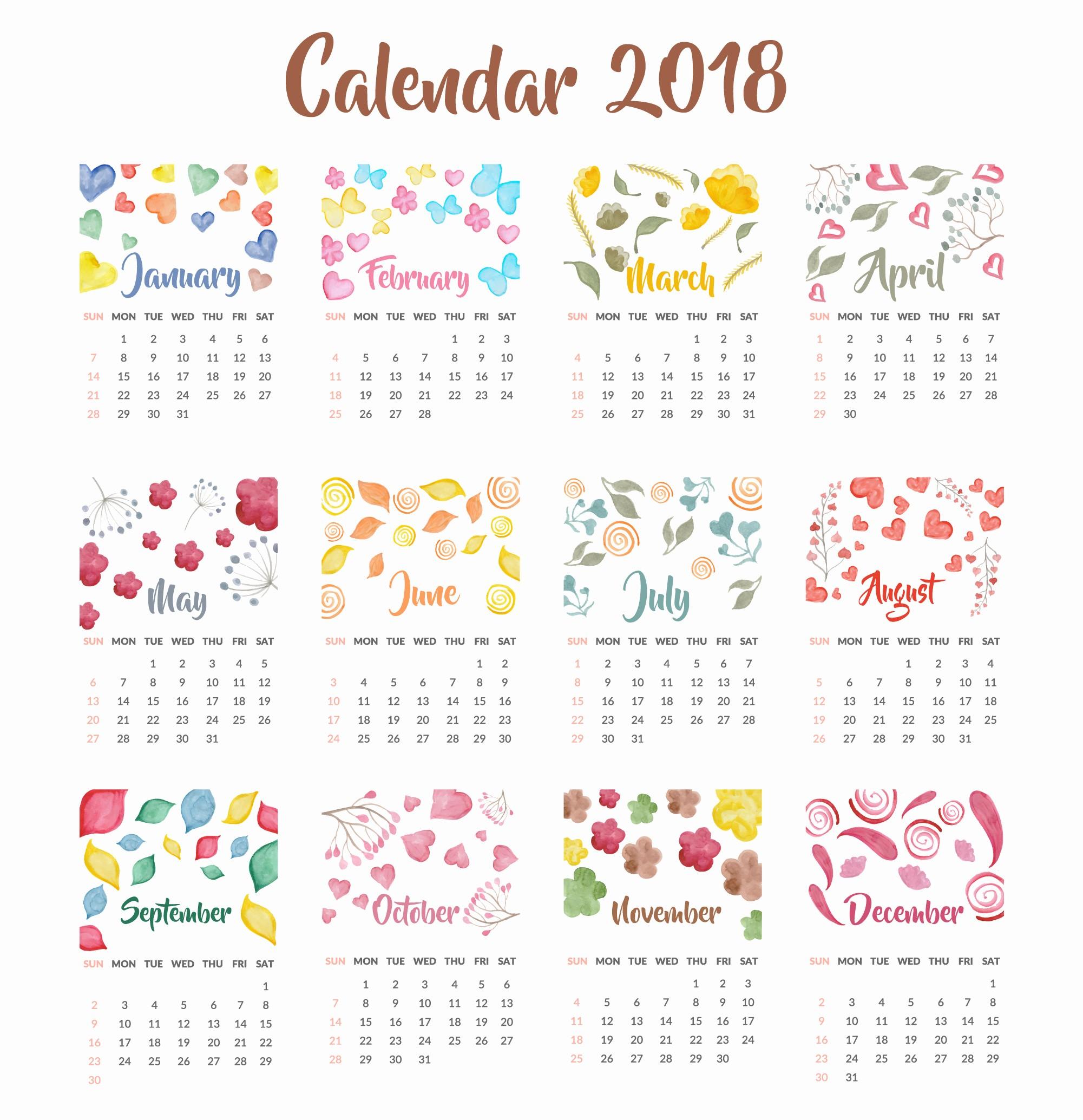 2018 year calendar wallpaper free 2018 calendar by month