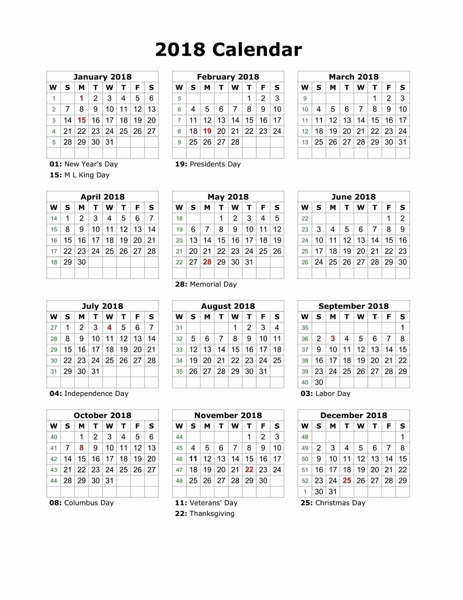 Free Printable Yearly Calendar 2018 Luxury Yearly Calendar 2018 Printable