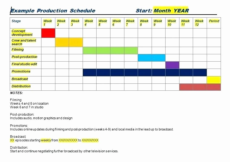 Free Production Scheduling Excel Template Best Of Excel Production Schedule Template Production Schedule
