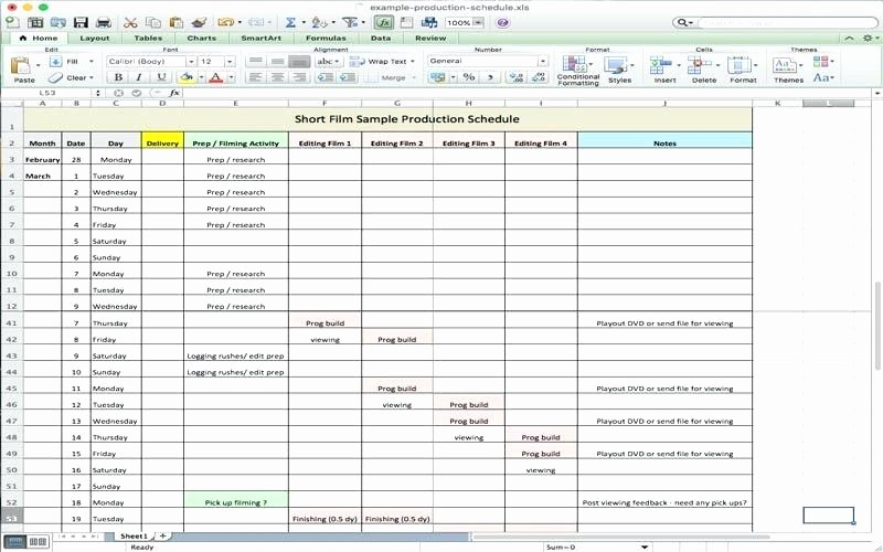 Free Production Scheduling Excel Template Lovely Excel Production Schedule Template Production Schedule