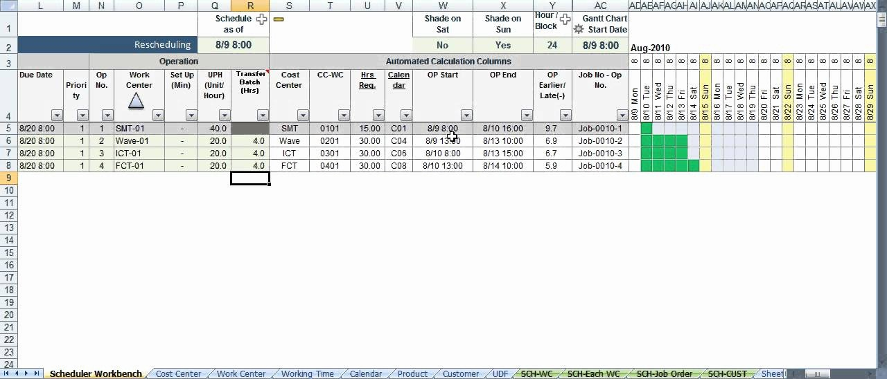Free Production Scheduling Excel Template New Scheduler123 Part A Excel Based Production Scheduling