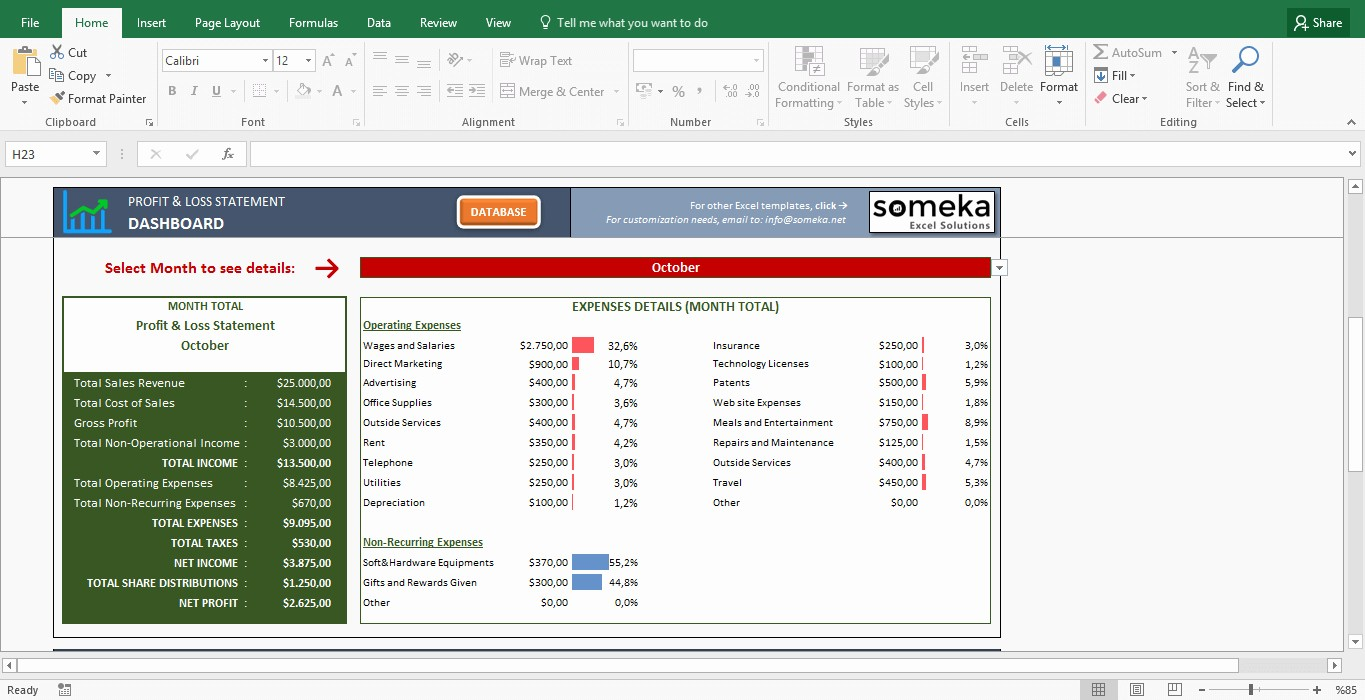 Free Profit and Loss software Fresh Profit and Loss Statement Template Free Excel Spreadsheet