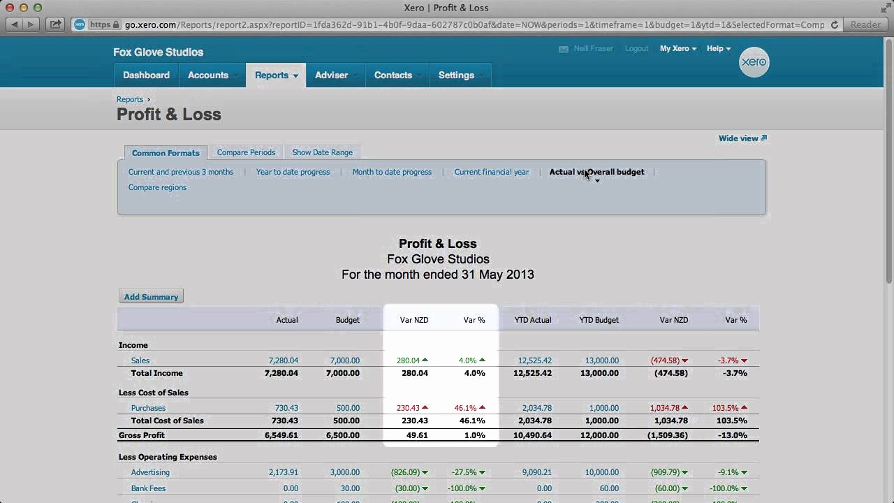 Free Profit and Loss software Lovely Use the Profit and Loss Report