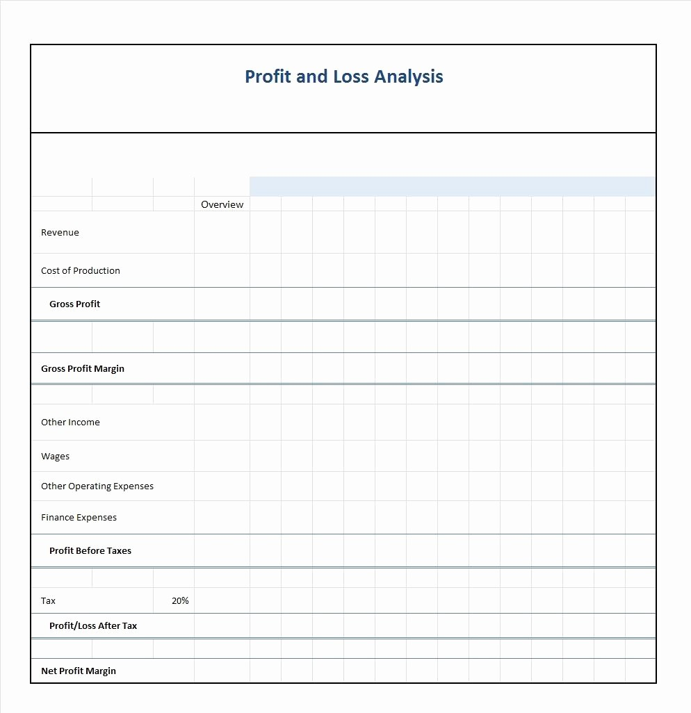 Free Profit and Loss Statement Fresh 35 Profit and Loss Statement Templates & forms