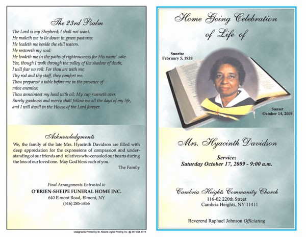 Free Program Templates for Word Awesome 6 Free Funeral Program Templates Microsoft Word Website