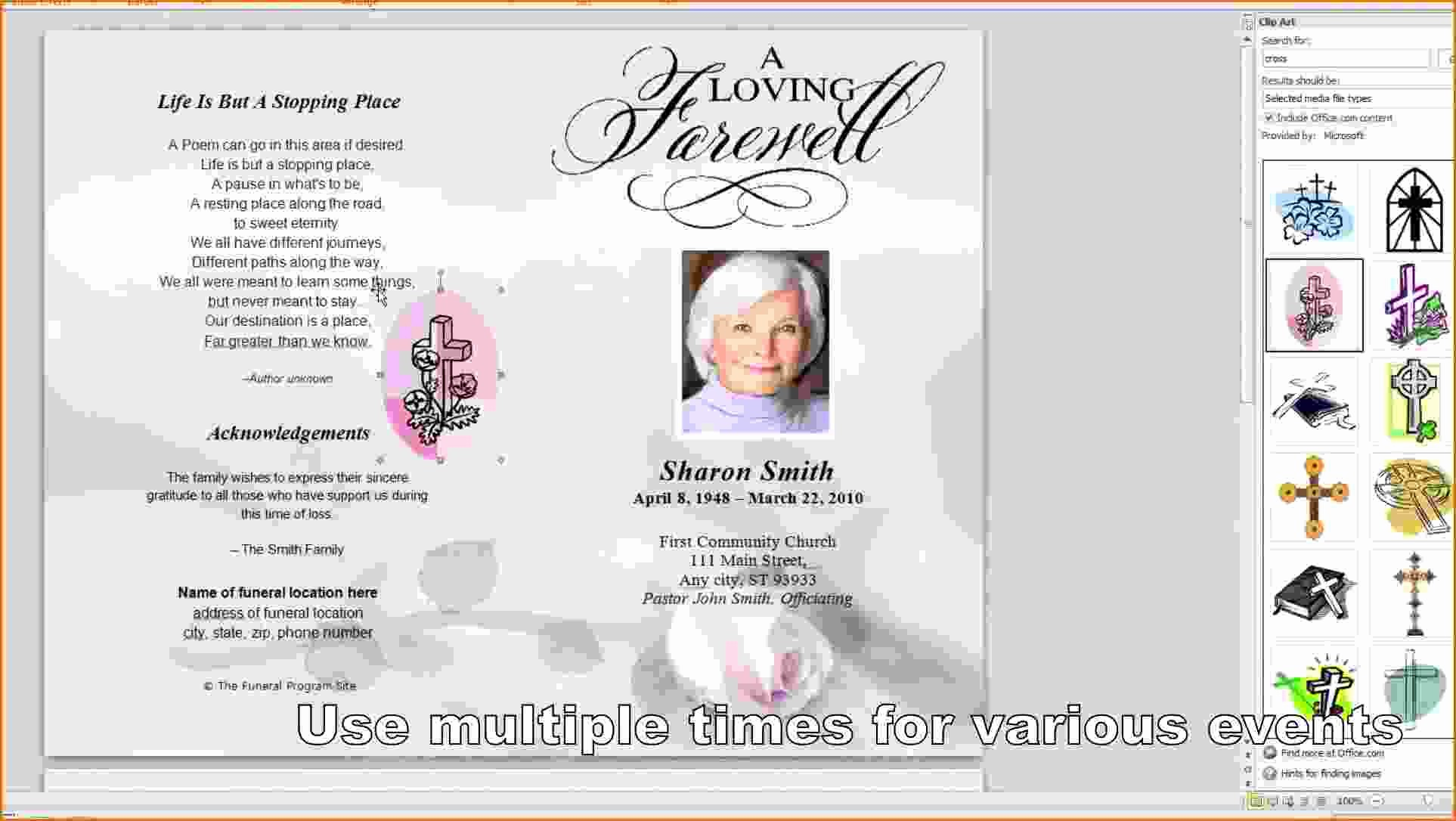 Free Program Templates for Word Awesome 8 Free Funeral Program Template Microsoft Word