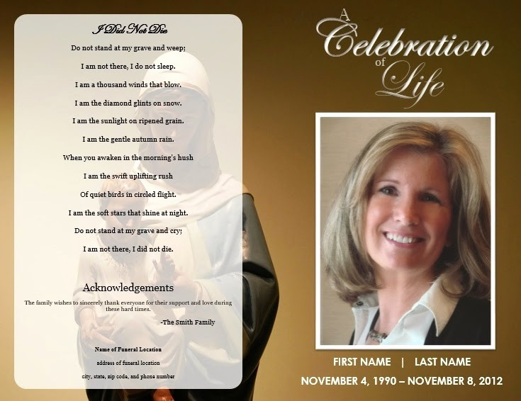 Free Program Templates for Word Beautiful the Funeral Memorial Program Blog Free Funeral Program