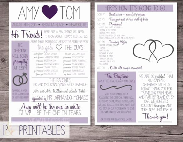 Free Program Templates for Word Best Of Wedding Program Template – 41 Free Word Pdf Psd