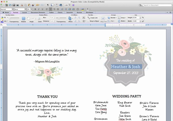 Free Program Templates for Word Inspirational 8 Best Of Wedding Program Template Free Printable
