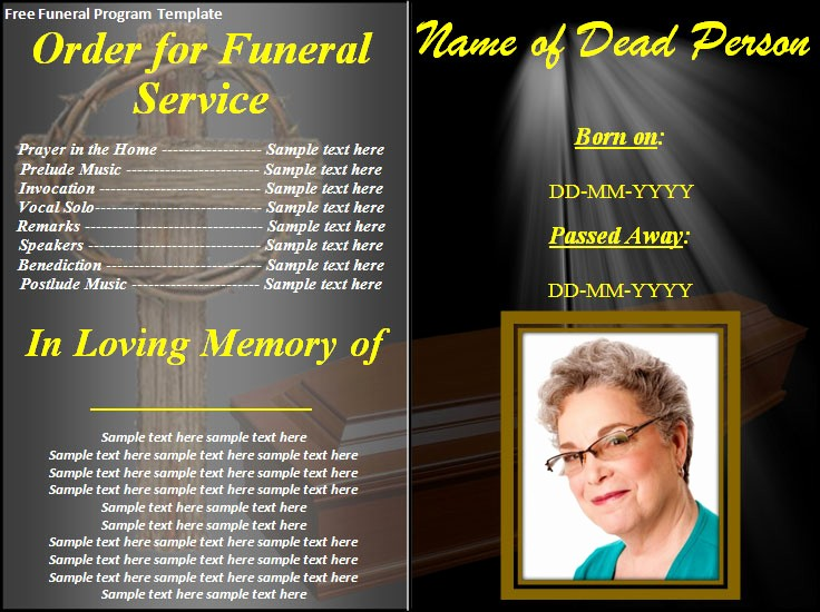 Free Program Templates for Word Inspirational 8 Free Funeral Program Templates Word Excel Pdf Templates
