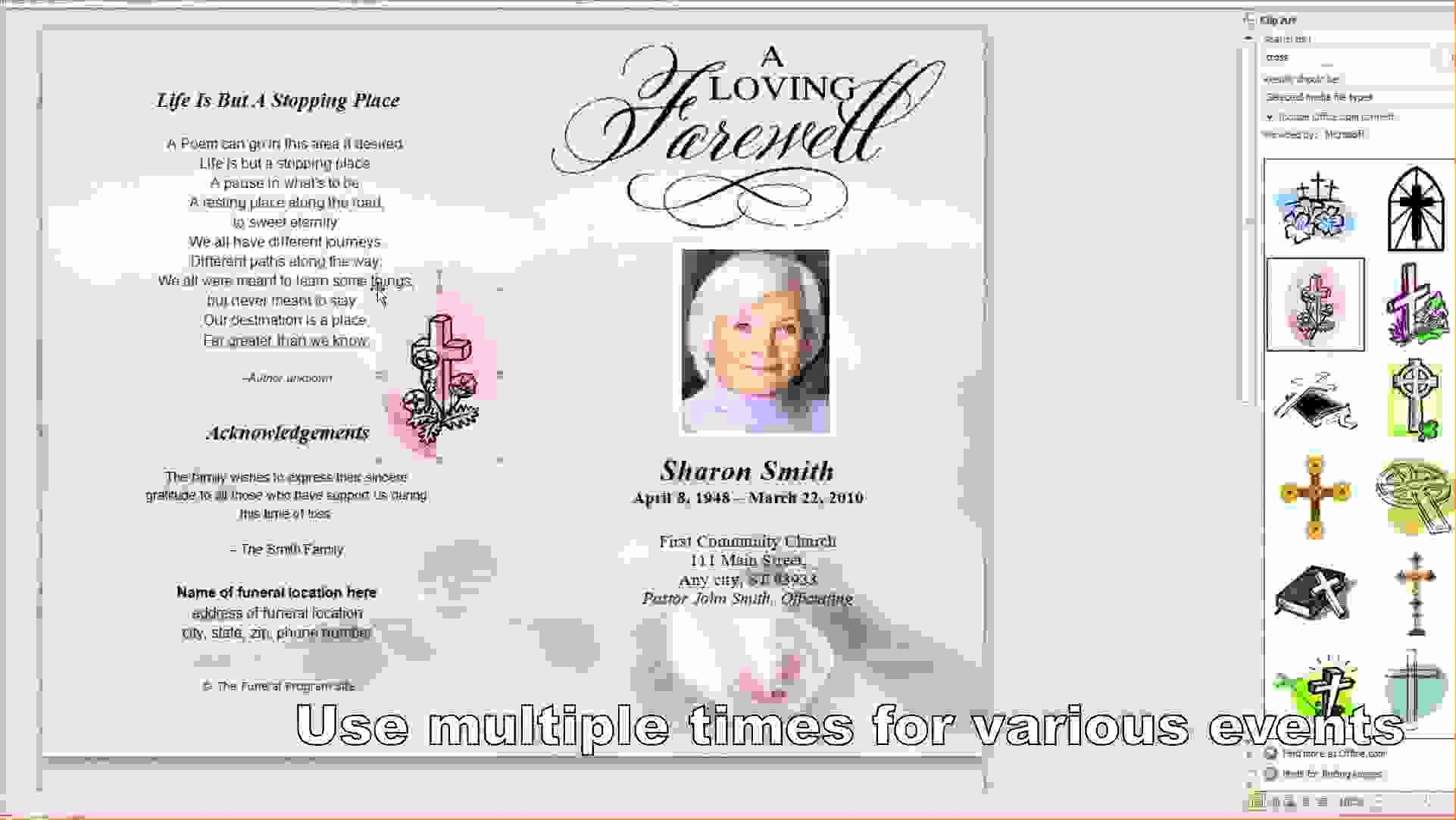 Free Program Templates for Word Inspirational 9 Free Funeral Program Template Microsoft Wordagenda