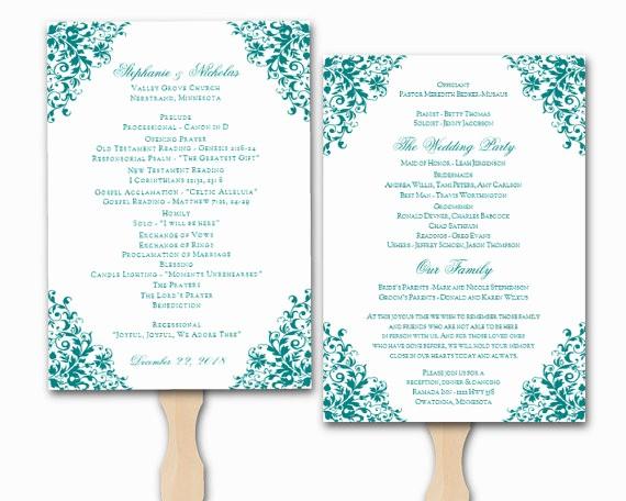 Free Program Templates for Word Lovely Wedding Program Template Word