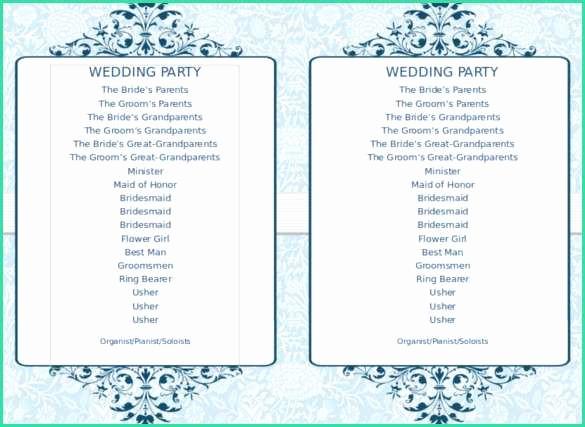 Free Program Templates for Word Luxury 66 Free Wedding Program Templates for Word