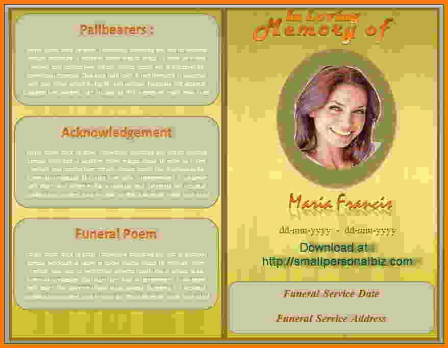 Free Program Templates for Word Luxury Funeral Program Template Microsoft Sarahepps
