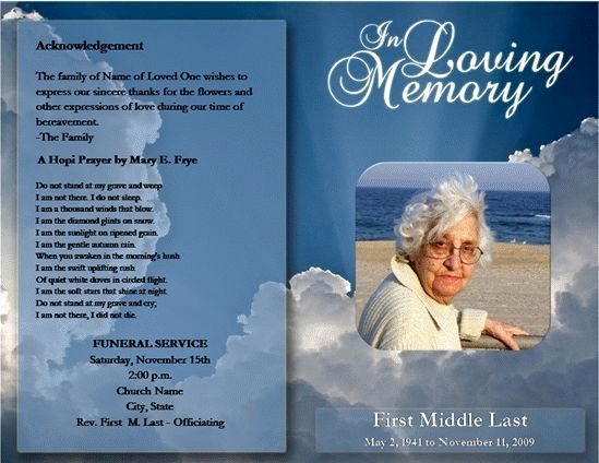 Free Program Templates for Word Unique Free Funeral Program Template Microsoft Word
