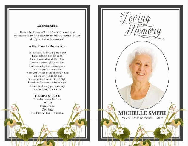 Free Program Templates for Word Unique Memorial Service Program Template Microsoft Word