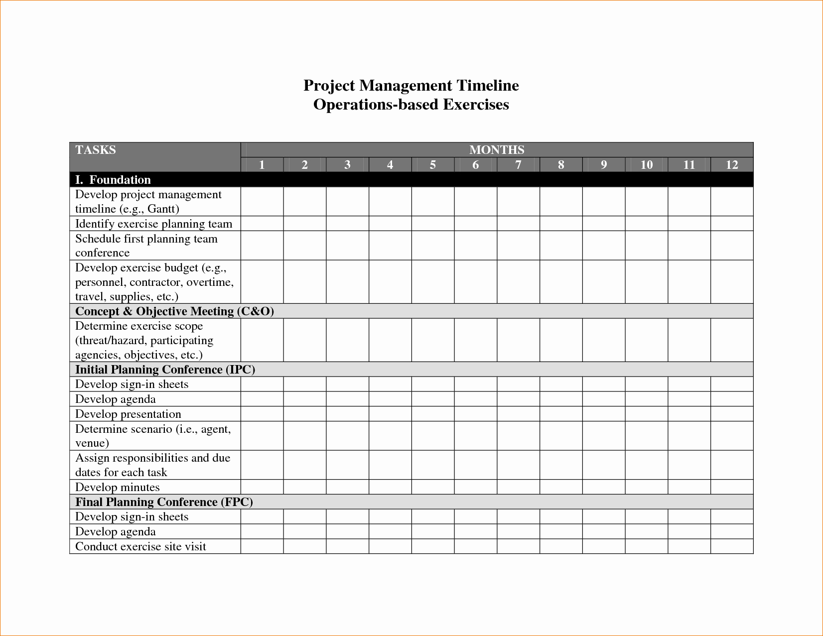 Free Project Management Timeline Template Elegant 8 Project Management Timeline Template