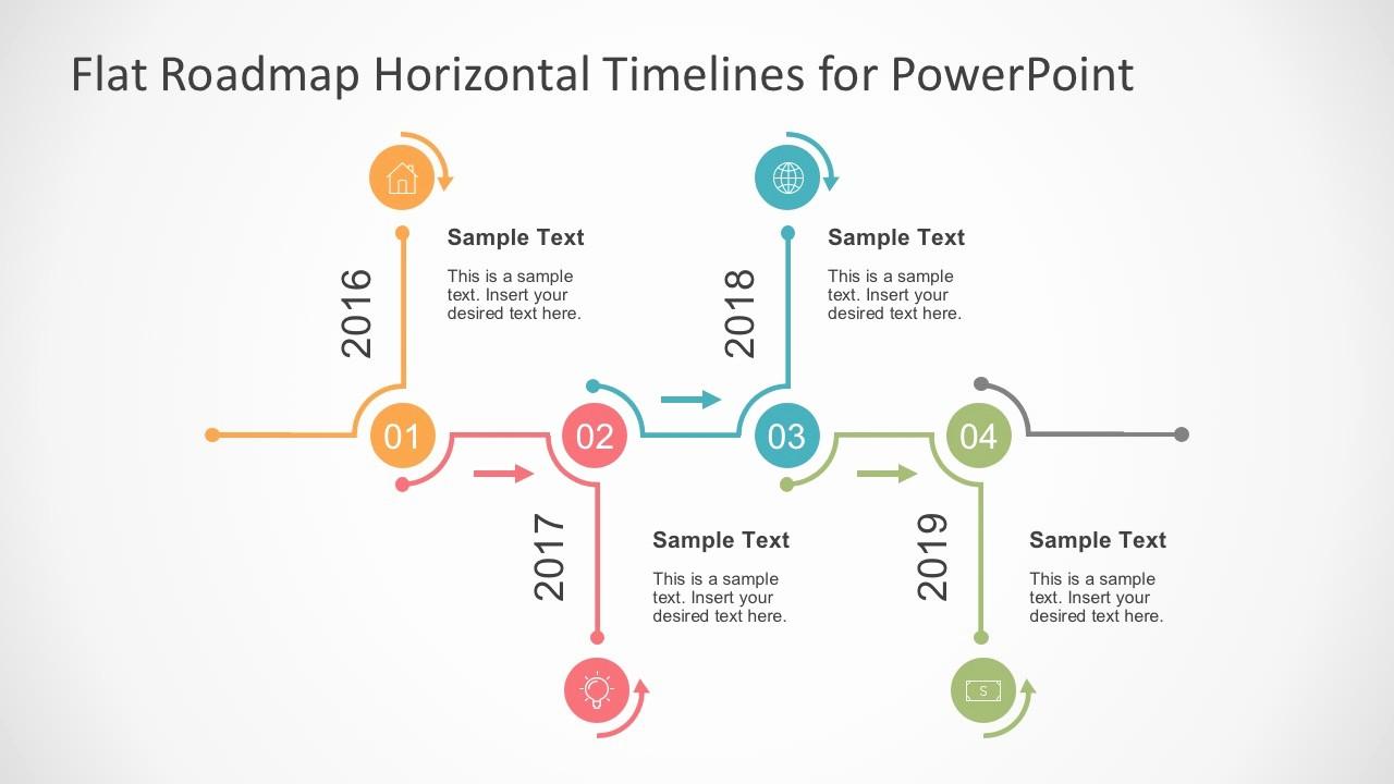 Free Project Management Timeline Template Unique Flat Timelines Powerpoint Templates