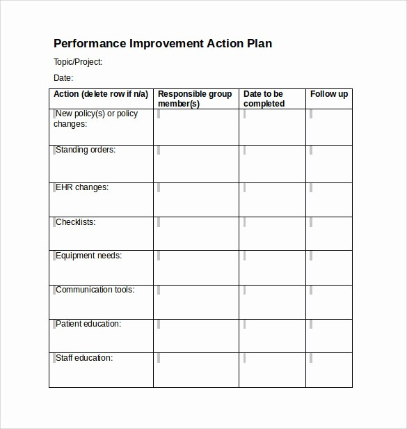 Free Project Plan Template Word Beautiful 16 Project Action Plan Templates to Download for Free