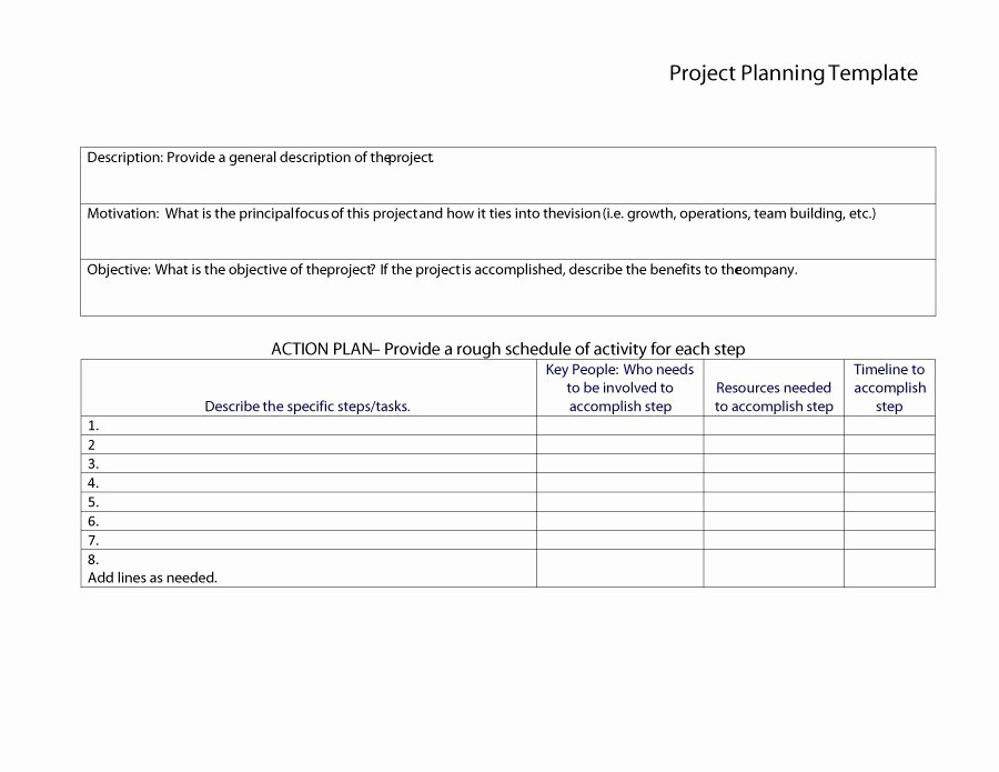 Free Project Plan Template Word Beautiful 48 Professional Project Plan Templates [excel Word Pdf