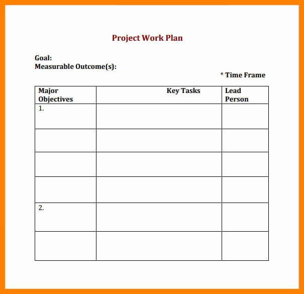 Free Project Plan Template Word Beautiful 6 Free Work Plan Template Word