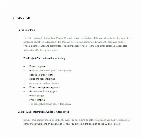 Free Project Plan Template Word Best Of 23 Project Plan Template Doc Excel Pdf