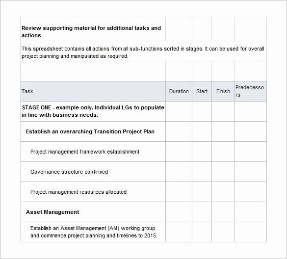 Free Project Plan Template Word Unique 12 Transition Plan Template Ai Psd Google Docs Apple