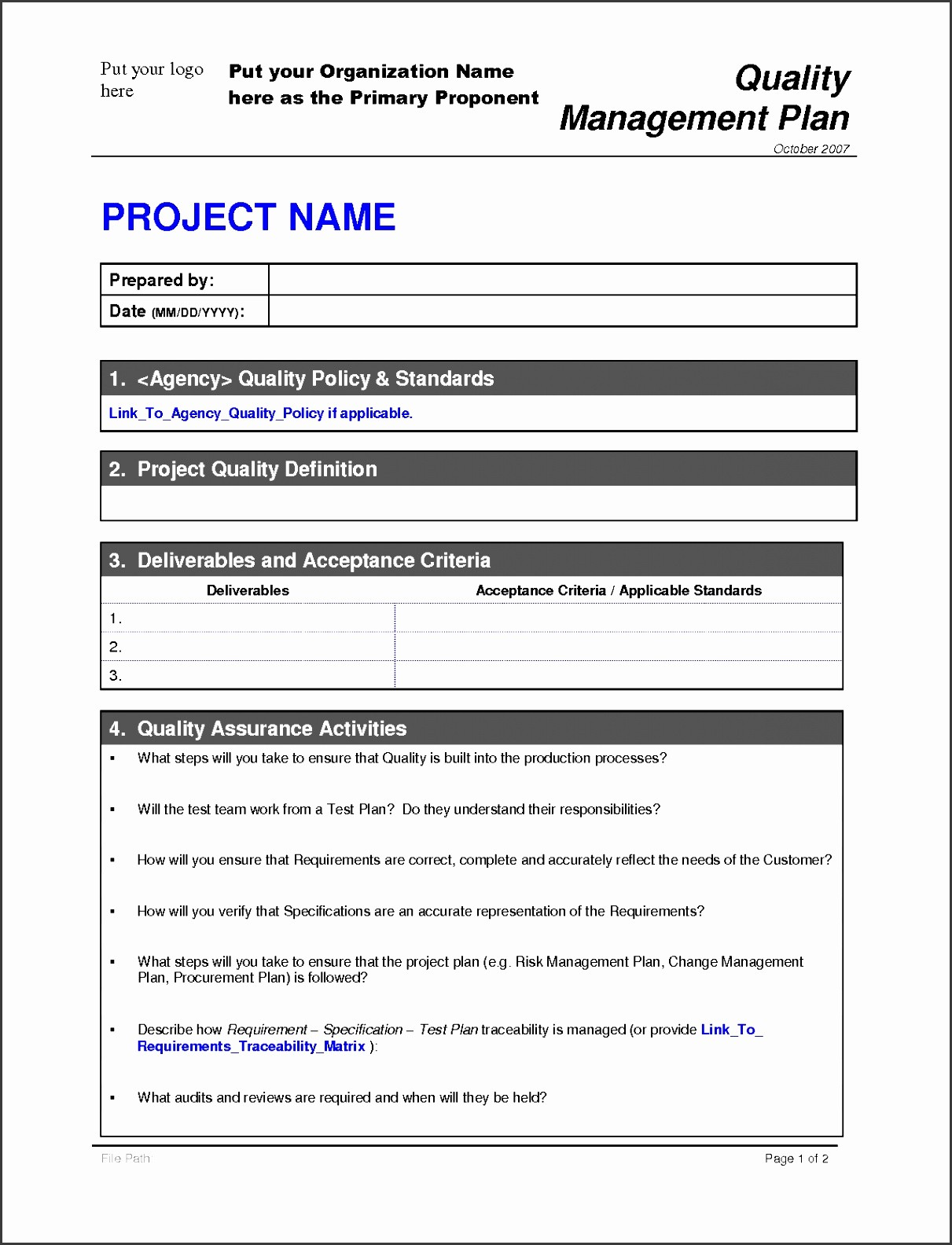 Free Project Plan Template Word Unique 6 Free Project Plan Template Word Sampletemplatess