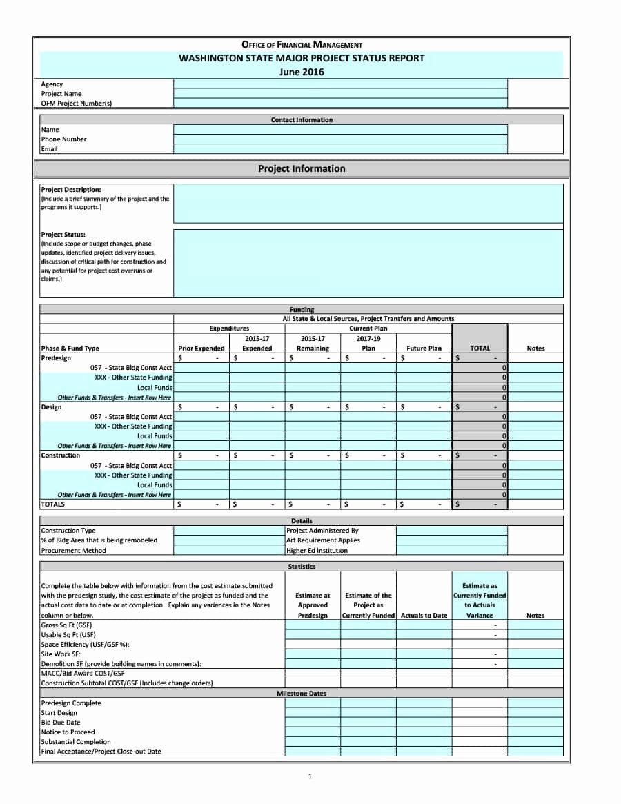 Free Project Status Report Template Awesome 40 Project Status Report Templates [word Excel Ppt]