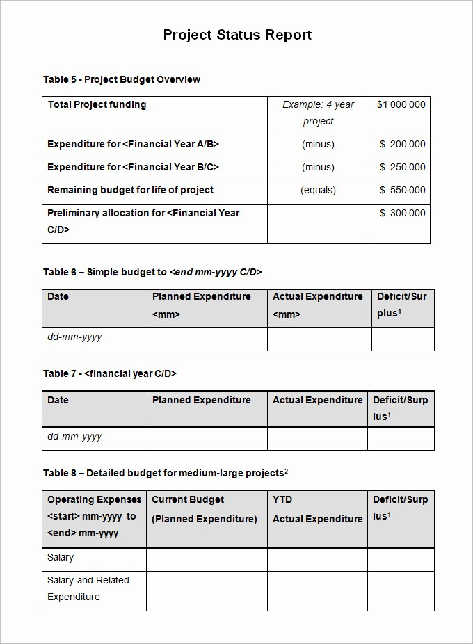 Free Project Status Report Template Luxury Sample Project Status Report Template 10 Free Word Pdf