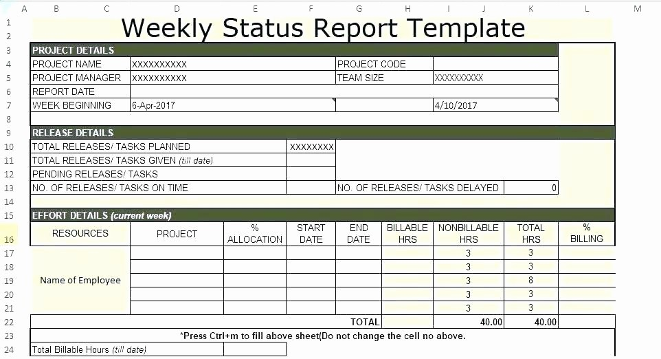 Free Project Status Report Template New Weekly Project Status Report Templates E Page Template