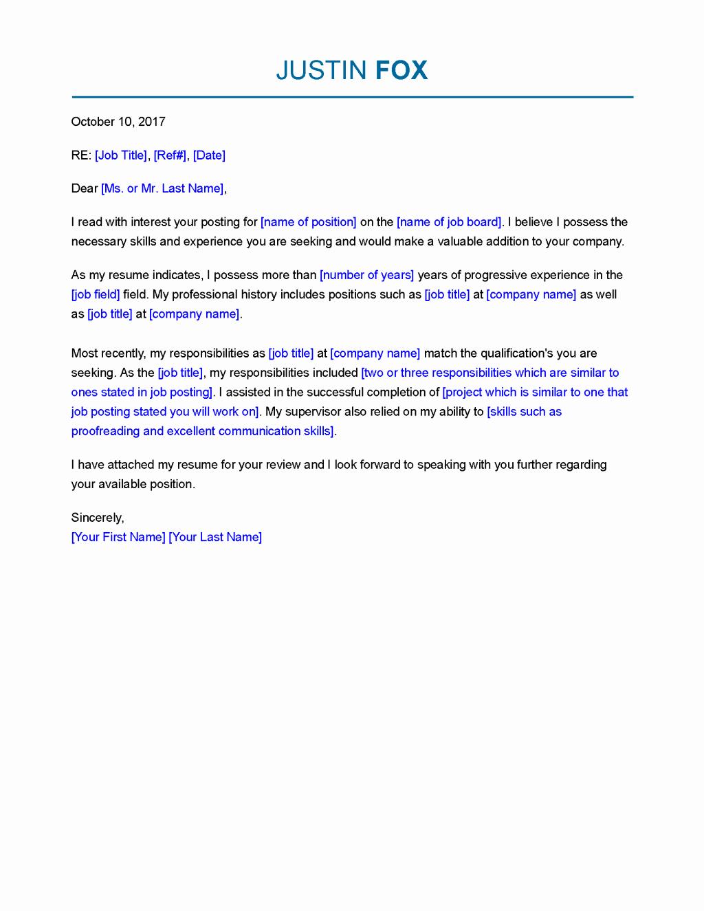 Free Resume Cover Letter Template Unique Resume and Template 59 Resume Cover Letter Template