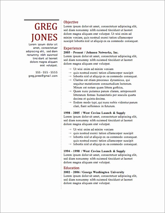 Free Resume Template Download Word Best Of 12 Resume Templates for Microsoft Word Free Download