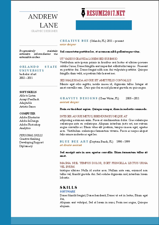 Free Resume Templates 2017 Word Beautiful Resume format 2017 16 Free to Word Templates