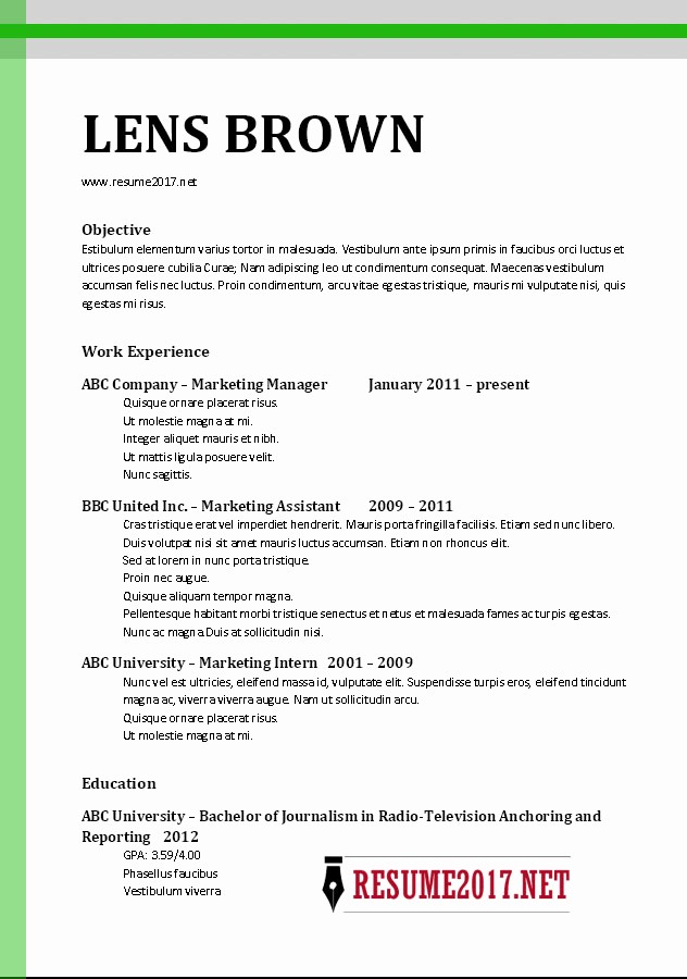 Free Resume Templates 2017 Word Luxury Chronological Resume format 2017
