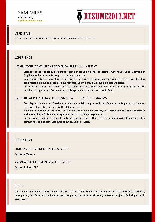 Free Resume Templates 2017 Word Luxury Resume format 2017 16 Free to Word Templates