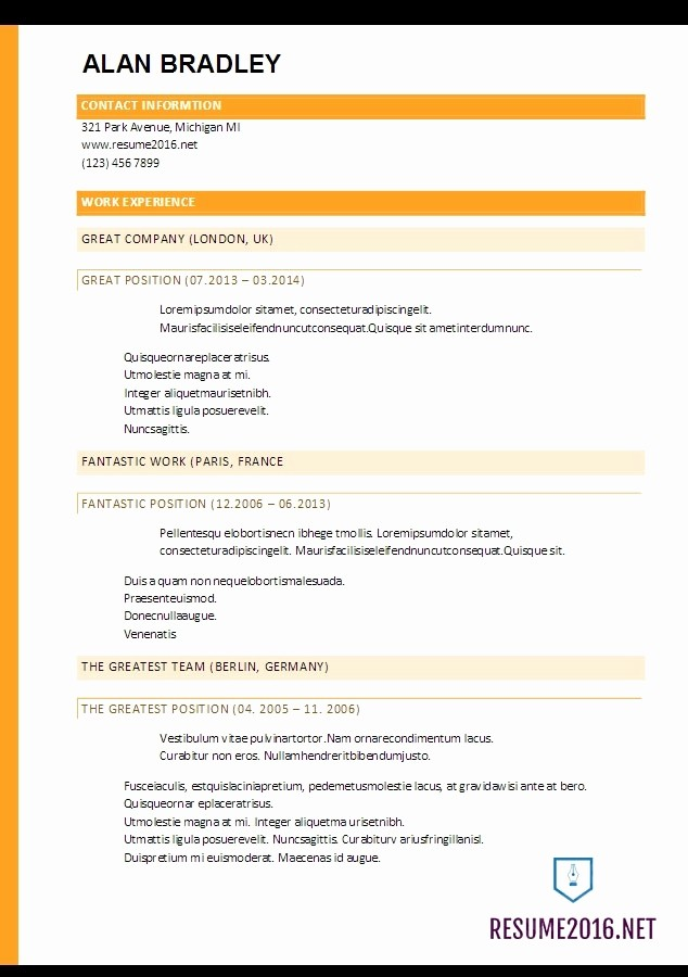 Free Resume Templates 2017 Word New Best Resume Template 2017