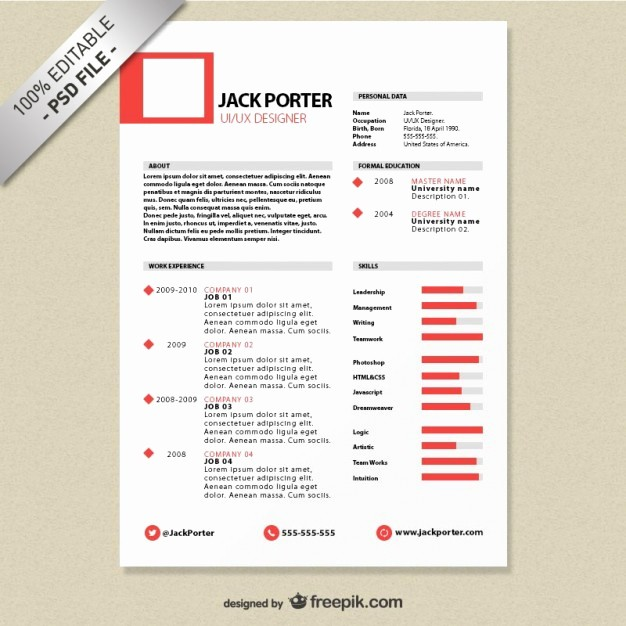 Free Resume Templates and Downloads Awesome Creative Resume Template Free Psd File